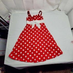 La Princess Red and White Dress Size 10 Minnie